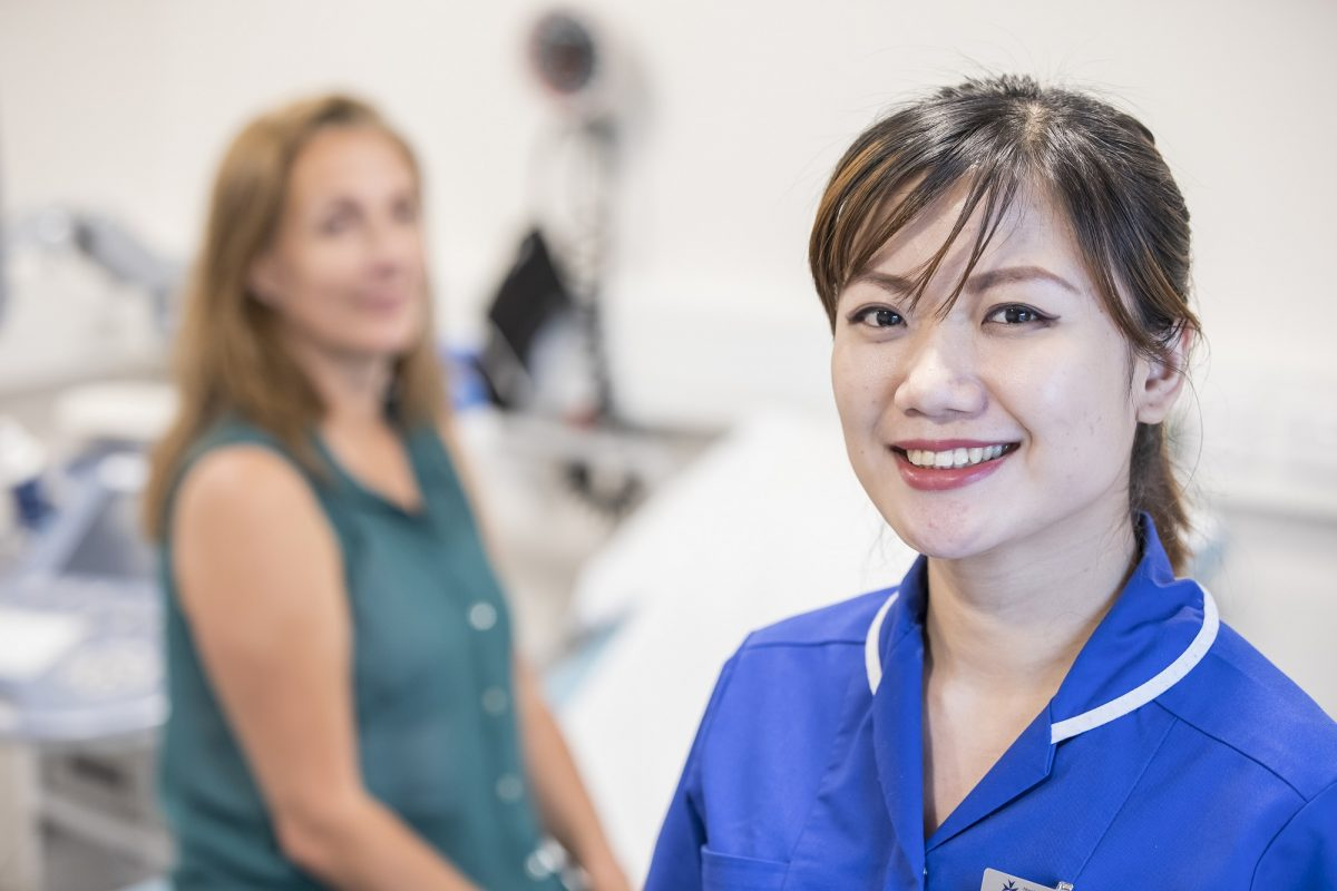 Nurse With Cardiology Patient